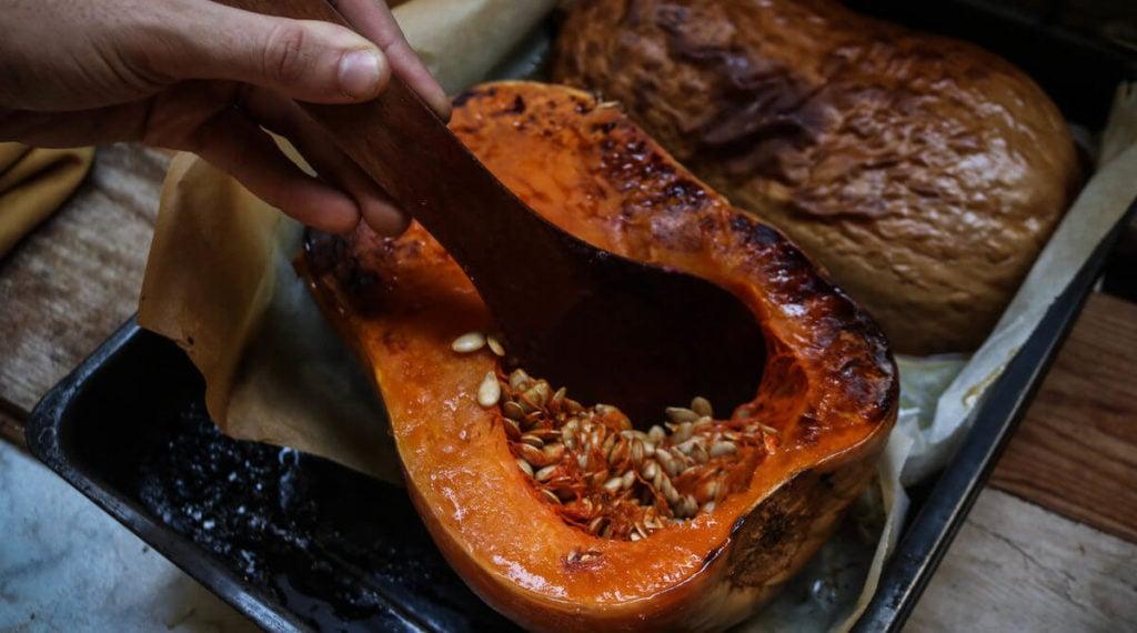 Step 1 is to make the homemade pumpkin puree
