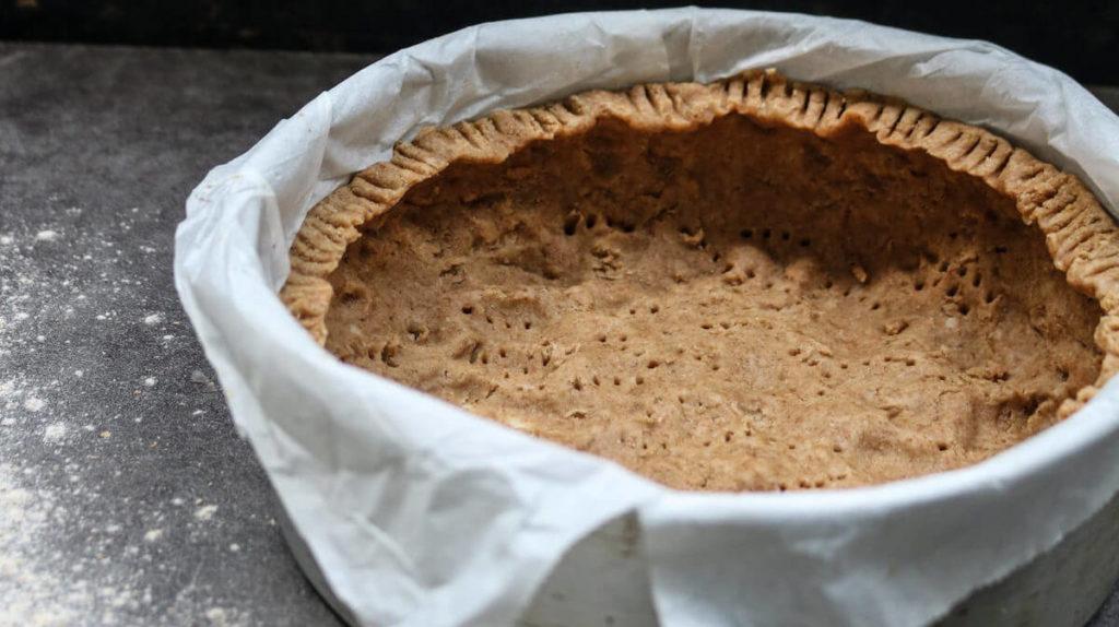 Step 2 is to make the pumpkin pie crust