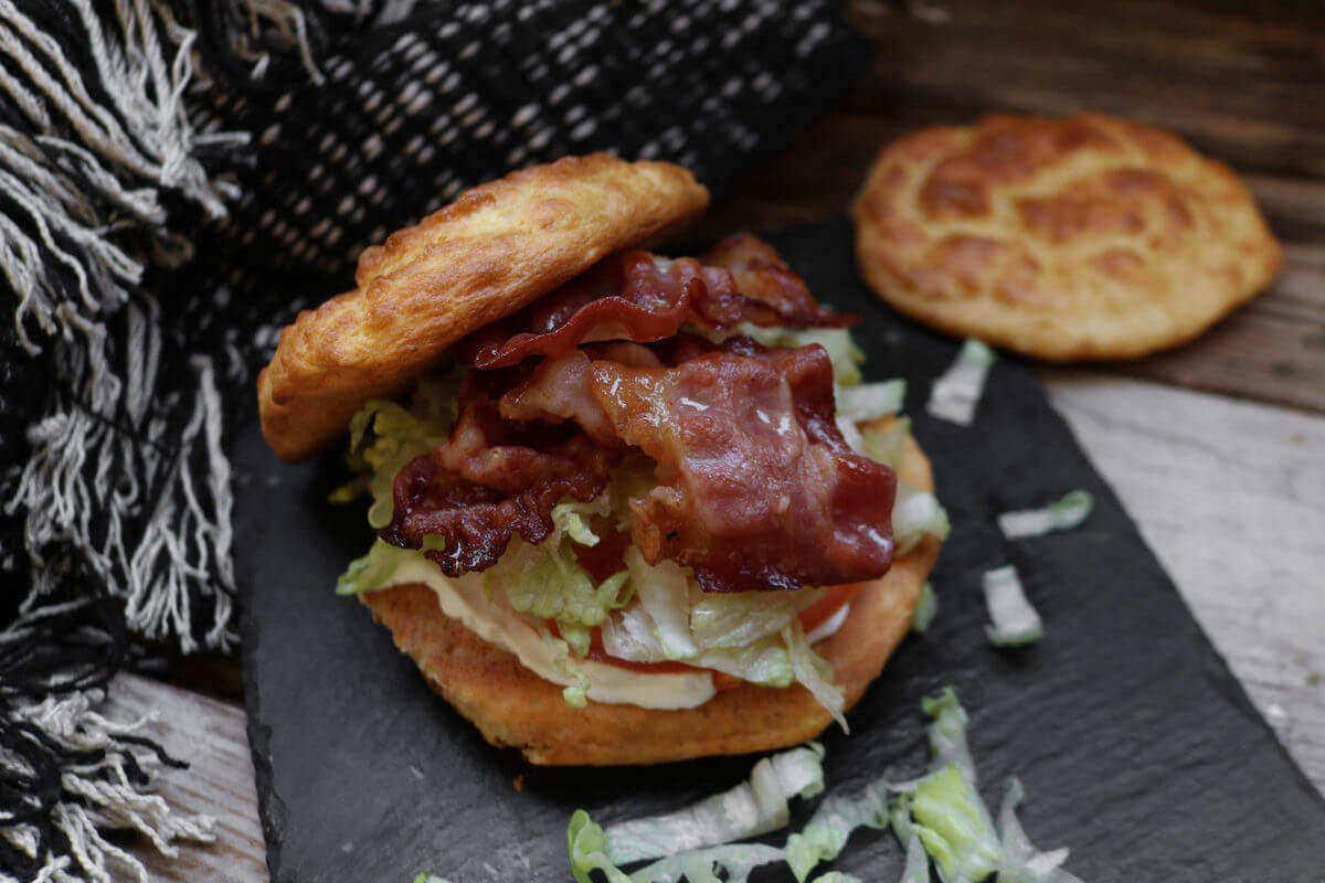 featured recipe image for keto cloud bread sandwich