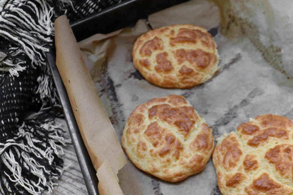 step 4 on making fluffy cloud bread sandwich