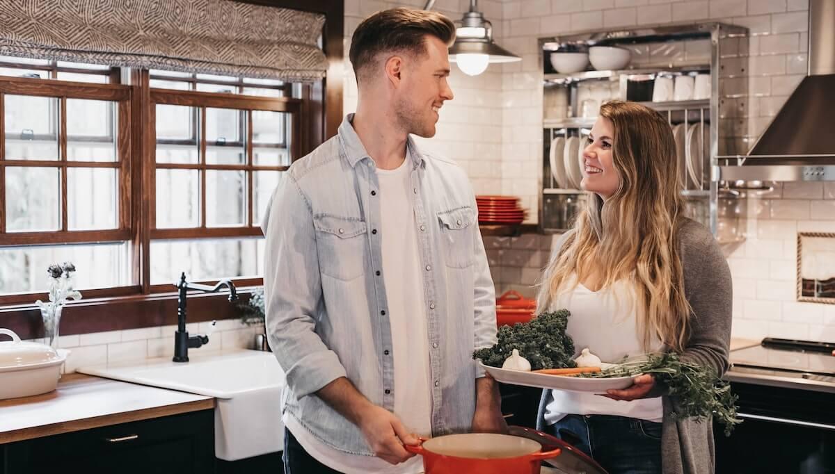 cook dinner together