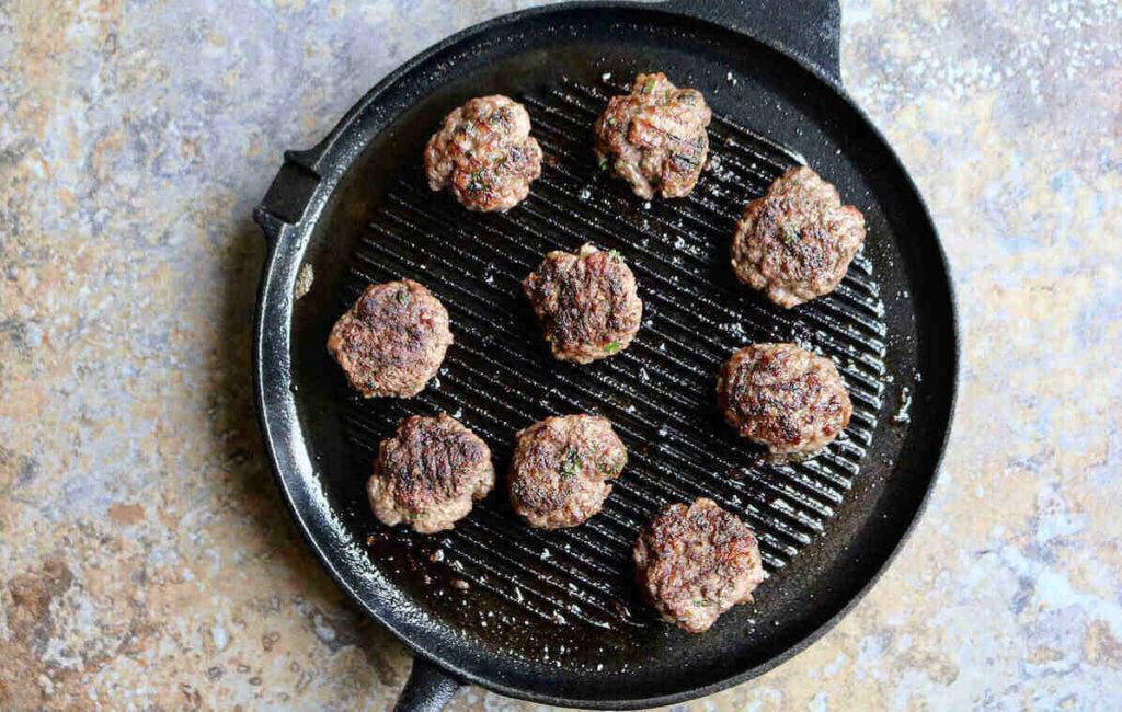 step 2 – fry the kofta patties but don't overcook
