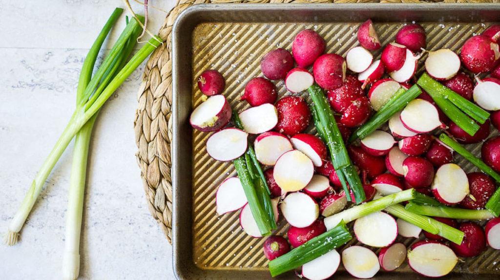 Step 1 – roast the radishes